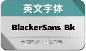 BlackerSans-Black(英文字体)