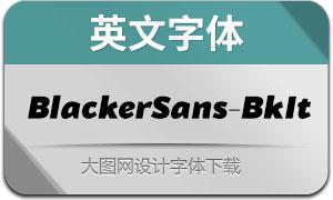 BlackerSans-BlackItalic(英文字体)