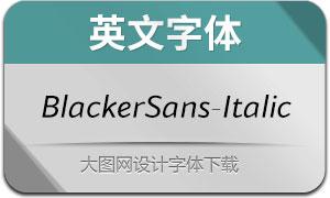 BlackerSans-Italic(英文字体)