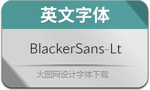 BlackerSans-Light(英文字体)