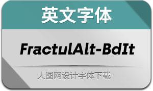 FractulAlt-BoldItalic(英文字体)