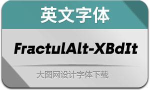 FractulAlt-ExtraBoldItalic(英文字