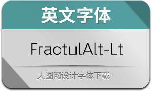 FractulAlt-Light(英文字体)