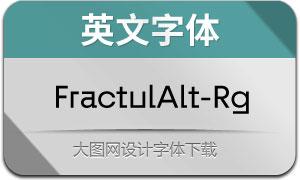FractulAlt-Regular(英文字体)