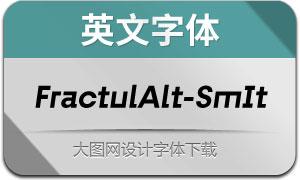 FractulAlt-SemiBoldItalic(英文字体