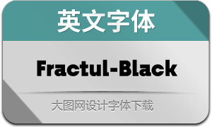 Fractul-Black(英文字体)