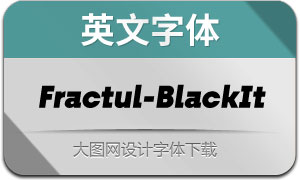 Fractul-BlackItalic(英文字体)