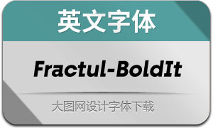 Fractul-BoldItalic(英文字体)