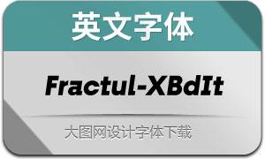 Fractul-ExtraBoldItalic(英文字体)
