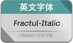 Fractul-Italic(英文字体)