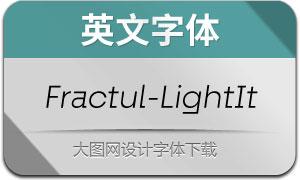 Fractul-LightItalic(英文字体)