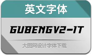 GubengV2-Italic(英文字体)