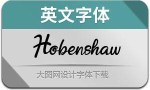 Hobenshaw(英文字体)