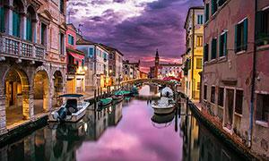 欧洲美丽的水上城市摄影图片