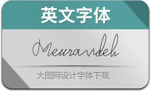 Meurandeh(英文字体)