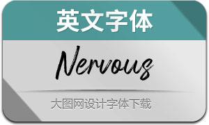 Nervous(英文字体)