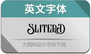 SliterD系列三款英文字體