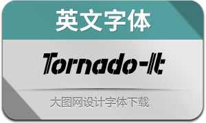 Tornado-Italic(英文字体)