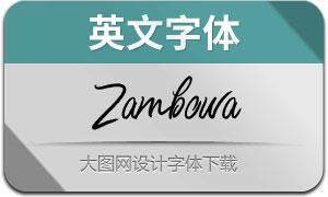 Zambowa(英文字体)
