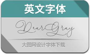 DearGray(英文字体)