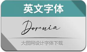 Dorenia(英文字体)