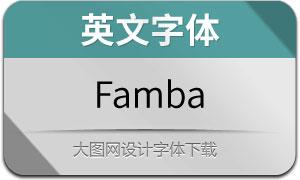 Famba(英文字体)
