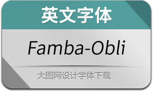 Famba-Oblique(英文字体)
