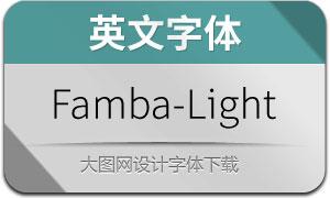 Famba-Light(英文字体)