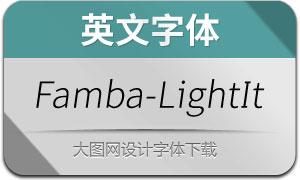 Famba-LightOblique(英文字体)