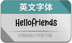 HelloFriends(英文字体)