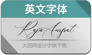 RajaAmpatScript(英文字体)