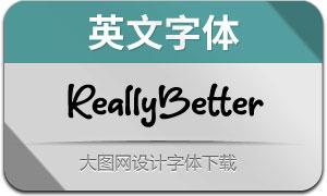 ReallyBetter(英文字体)