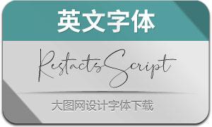 RestactsScript系列4款英文字体