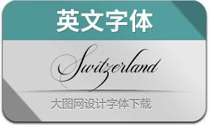 Switzerland(英文字体)