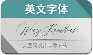 WayKambas(英文字体)
