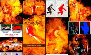 超酷的人像火焰燃烧效果PS动作