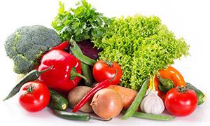 辣椒洋葱西蓝花等蔬菜摄影高清图片