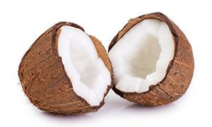 破壳后的一个椰子特写摄影高清图片