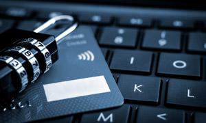 网上购物银行卡安全主题摄影高清图