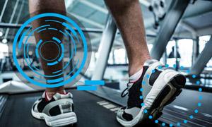 室内慢跑运动人物特写摄影高清图片