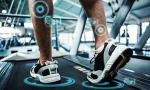 动态追踪慢跑运动人物摄影高清图片