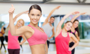 减肥瘦身运动主题美女摄影高清图片