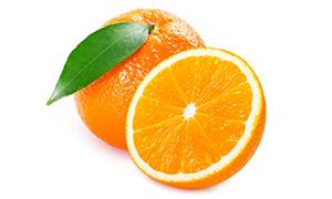 切开来的橙子近景特写摄影高清图片