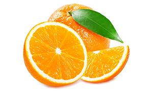 鲜嫩多汁优质橙子特写摄影高清图片