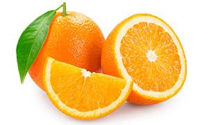 圆润饱满新鲜橙子特写摄影高清图片