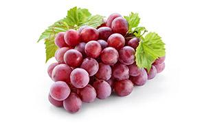 一串新鲜红色葡萄特写摄影高清图片