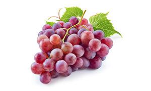 刚摘下来的新鲜葡萄串摄影高清图片
