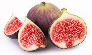 无花果的红色果肉特写摄影高清图片