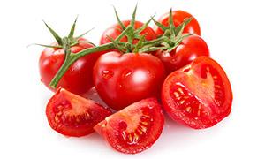 酸甜多汁的西红柿特写摄影高清图片