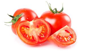 鲜红多汁的西红柿食材摄影高清图片